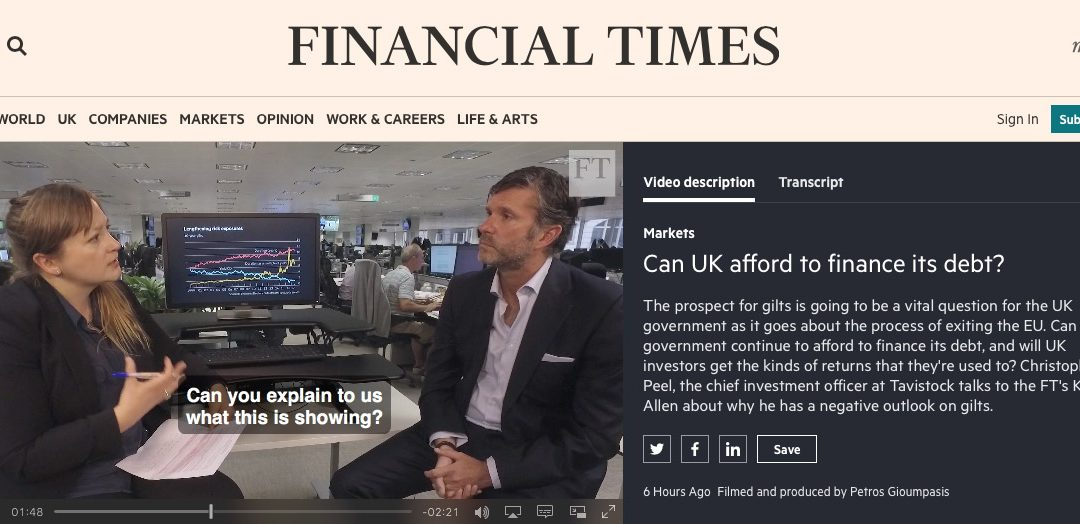 Christopher Peel appears on Financial Times Video